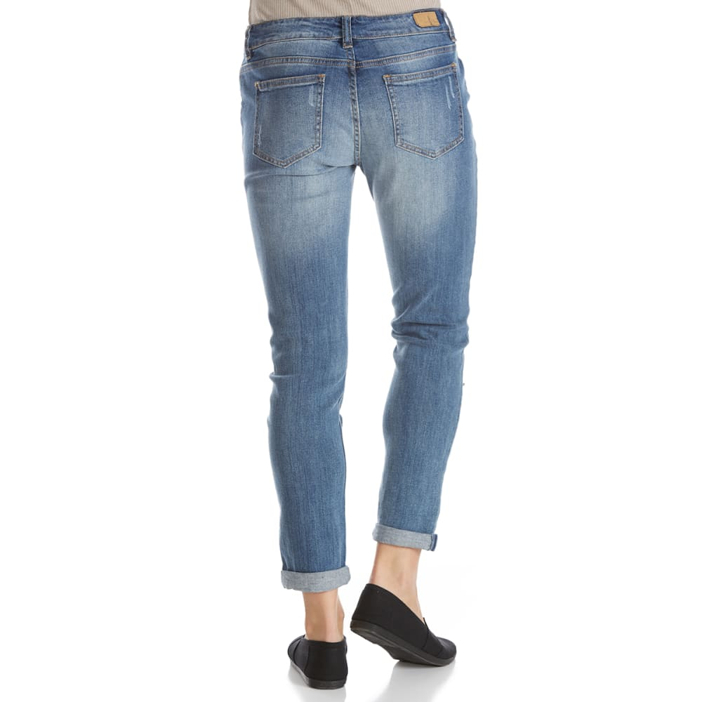 SUPPLIES BY UNIONBAY Women's Marni Destructed Ankle Jeans - 404J-BERKLEY BLUE