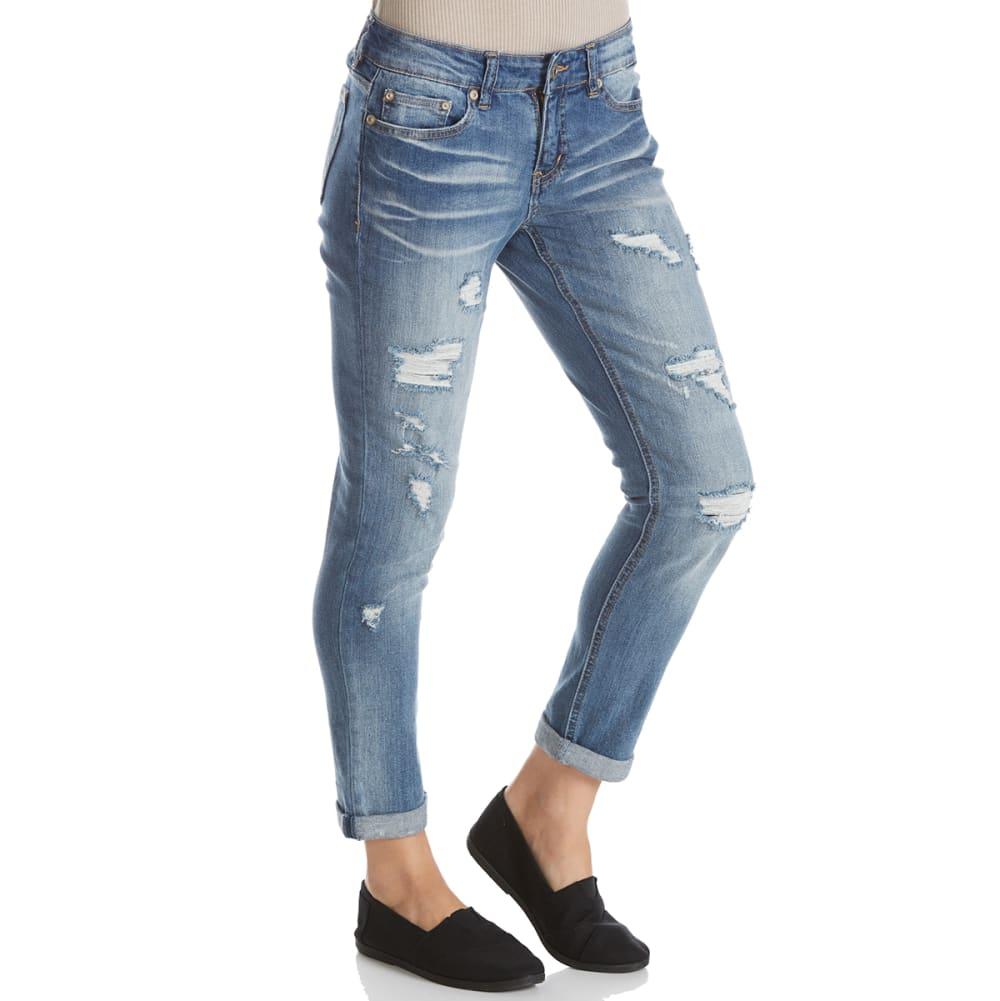 SUPPLIES BY UNIONBAY Women's Marni Destructed Ankle Jeans - 404J-BERKLEY BLUE