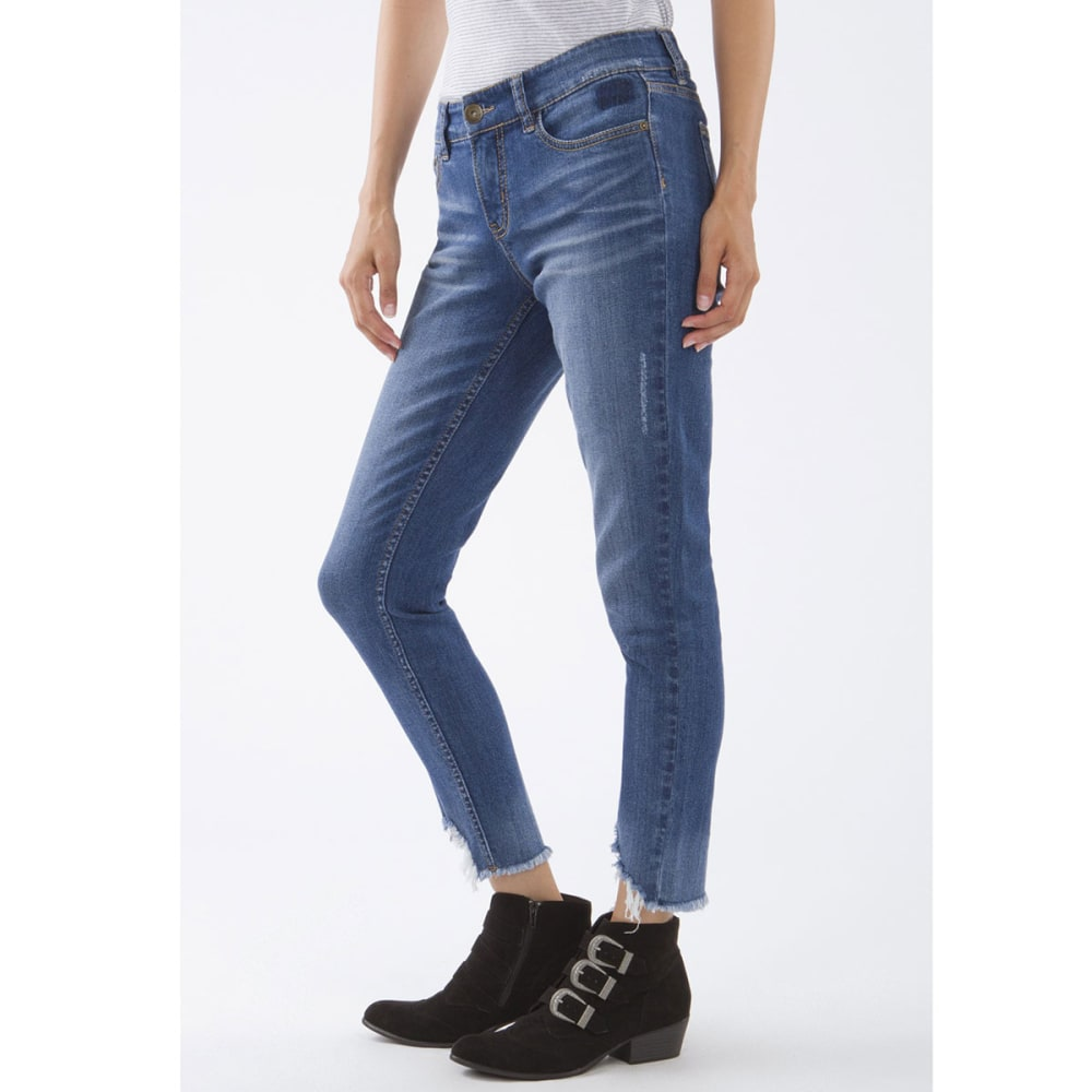 SUPPLIES BY UNIONBAY Women's Pamela Fray Hem Skinny Jeans - 454J-COVE BLAST