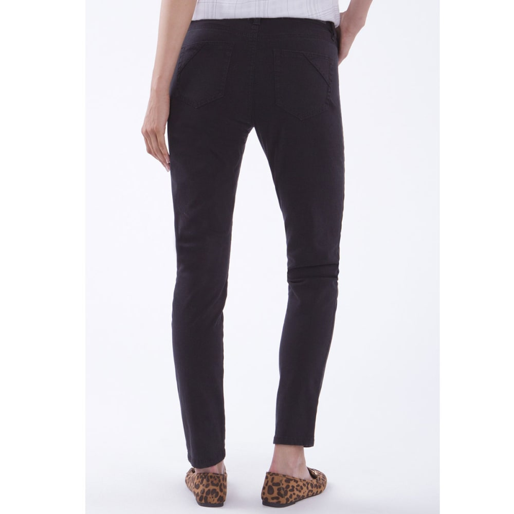 SUPPLIES BY UNIONBAY Women's Lorraine Skinny Twill Pants - 001J-BLACK