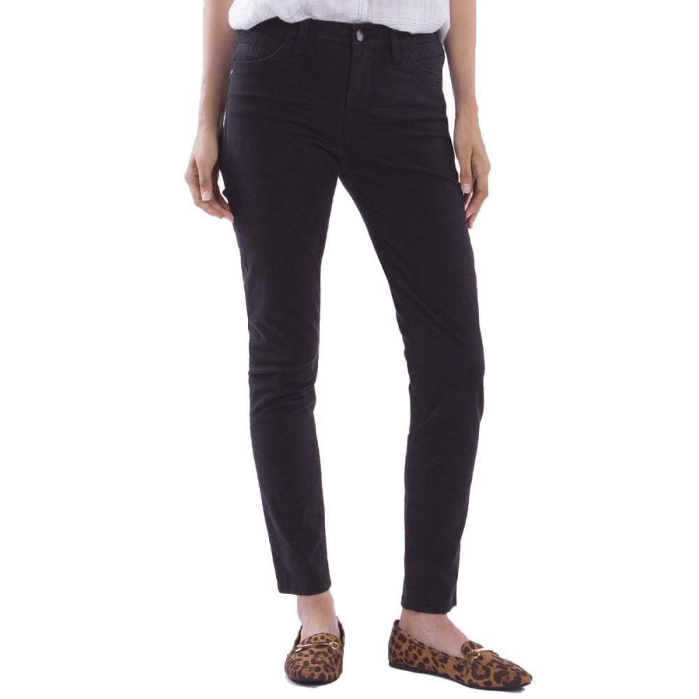 SUPPLIES BY UNIONBAY Women's Lorraine Skinny Twill Pants - 001J-BLACK