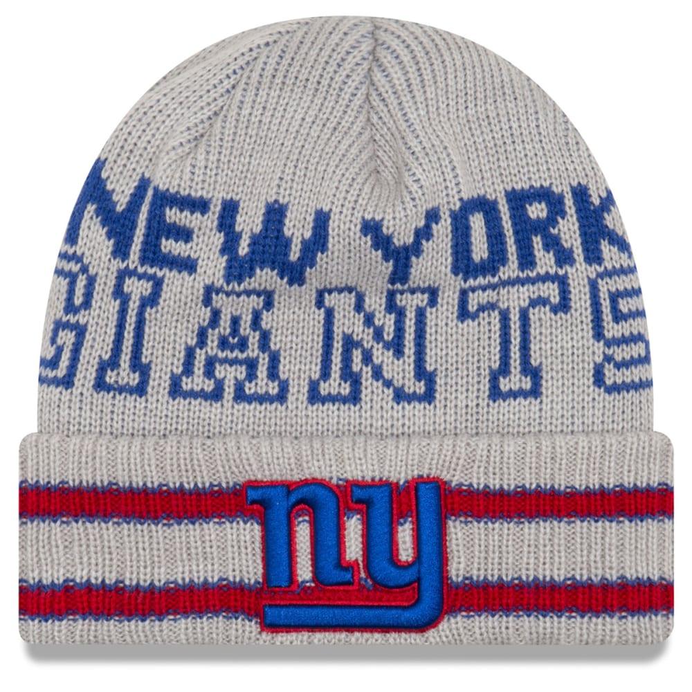 NEW YORK GIANTS Crisp and Cozy Cuffed Beanie - GREY