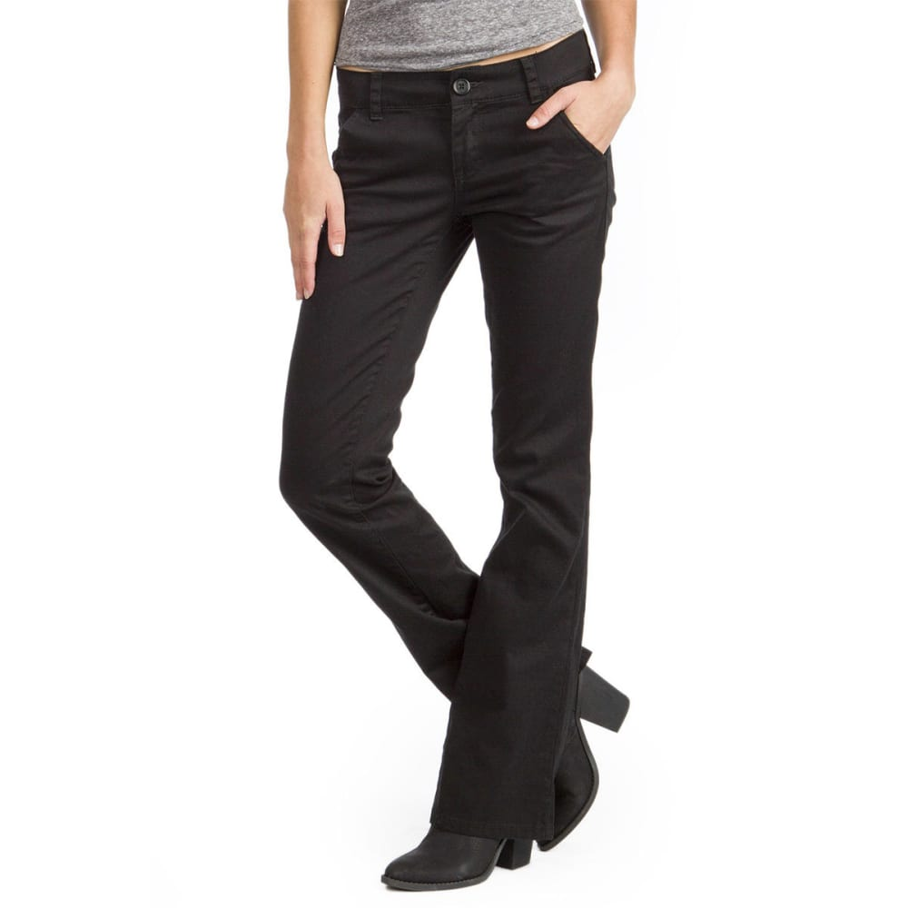 UNIONBAY Juniors' Heather Uniform Bootcut Pants - 001J-BLACK