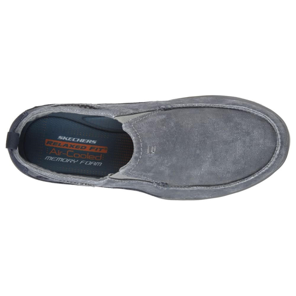 SKECHERS Men's Relaxed Fit: Elected – Drigo Slip-On Casual Shoes, Navy - NAVY