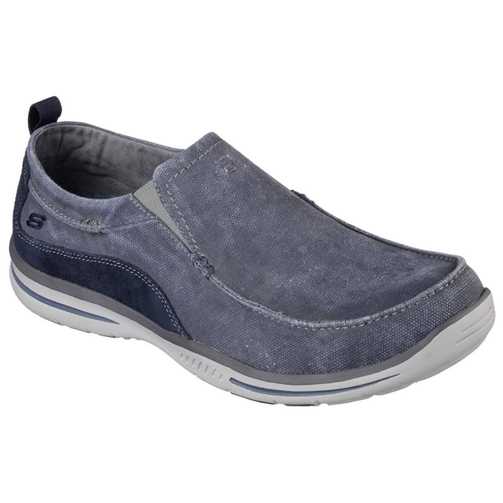 Skechers Men's Relaxed Fit: Elected - Drigo Slip-On Casual Shoes, Navy - Blue, 9.5