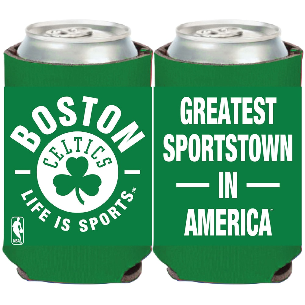 BOSTON CELTICS Greatest Sportstown in America Can Cooler - GREEN