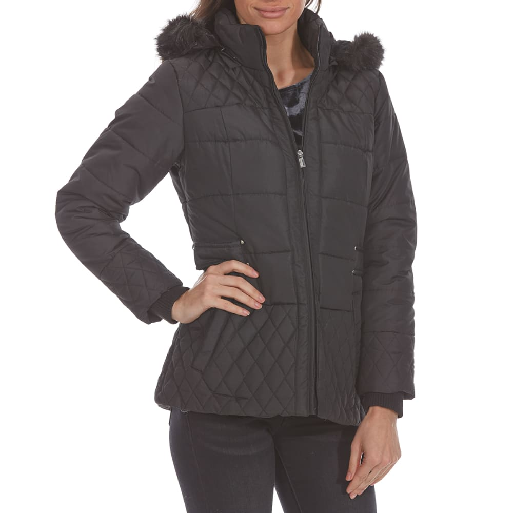 Details Women's Puffer Jacket - Black, S