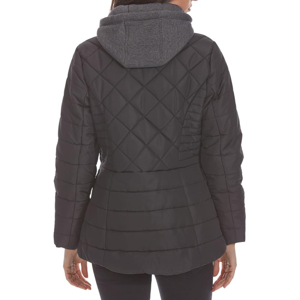DETAILS Women's Fleece Bib Puffer Jacket - BLACK