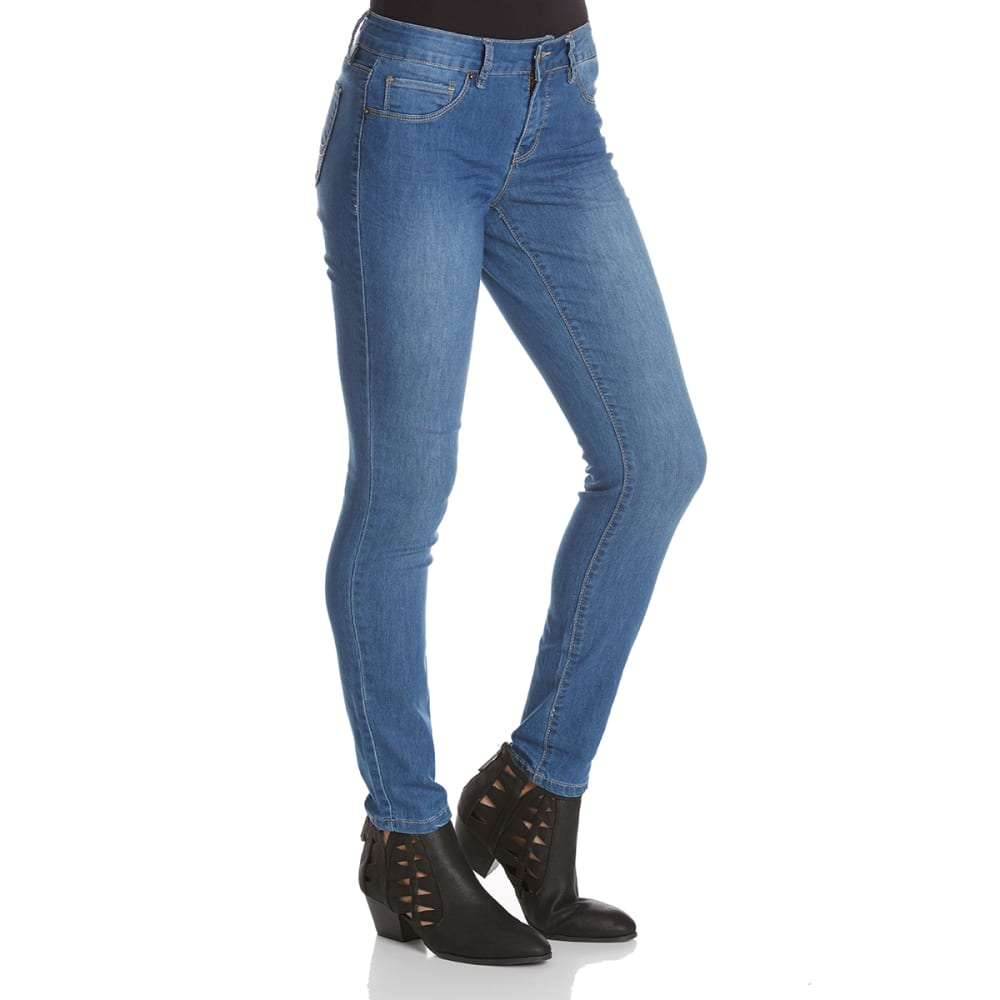 ROYALTY Women's Basic Super Soft Skinny Jeans - M78-MED WASH