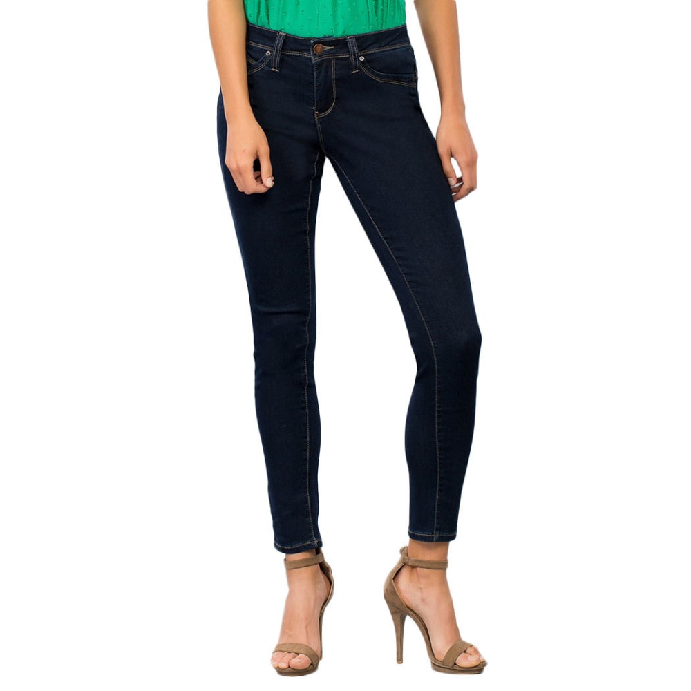 ROYALTY Women's Wanna Betta Butt Single Button Skinny Jeans - S37-RINSE