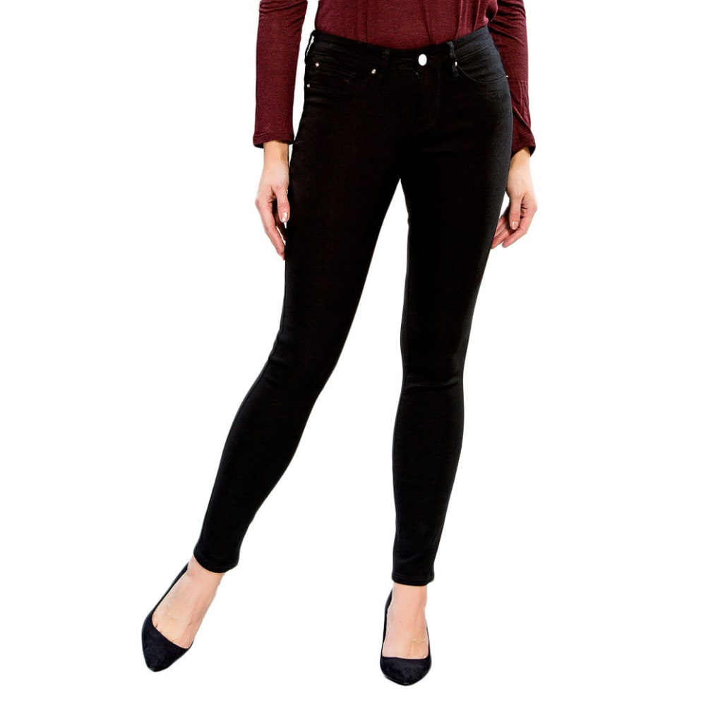 YMI Women's Hyper Stretch Twill Skinny Jeans - BLACK