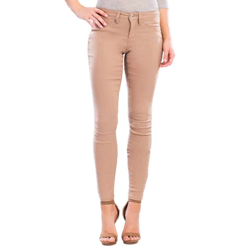 YMI Women's Hyper Stretch Twill Skinny Jeans - TEA LEAF
