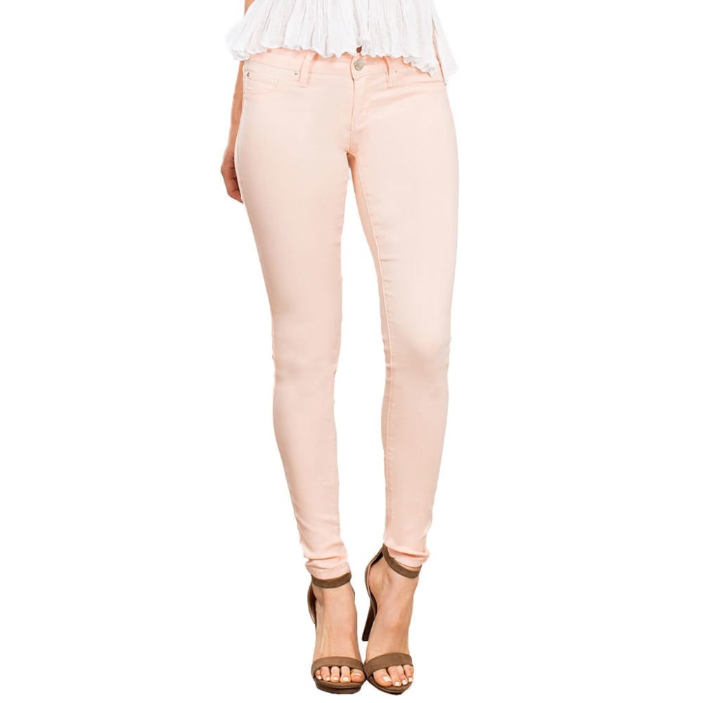 YMI Women's Hyper Stretch Twill Skinny Jeans - BLUSH