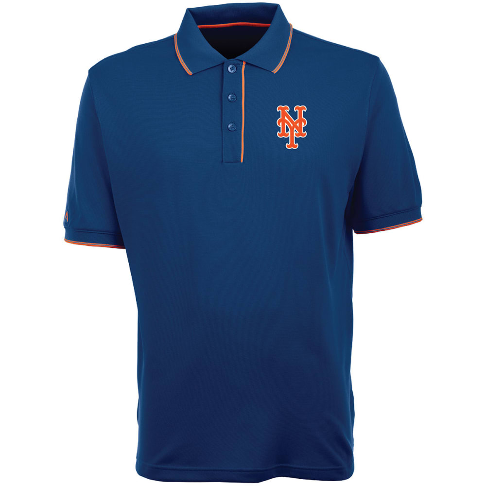 NEW YORK METS Men's Elite Polo Logo Short-Sleeve Shirt - ROYAL BLUE