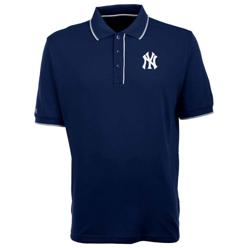 NEW YORK YANKEES Men's Elite Polo NY Logo Short-Sleeve Shirt - NAVY