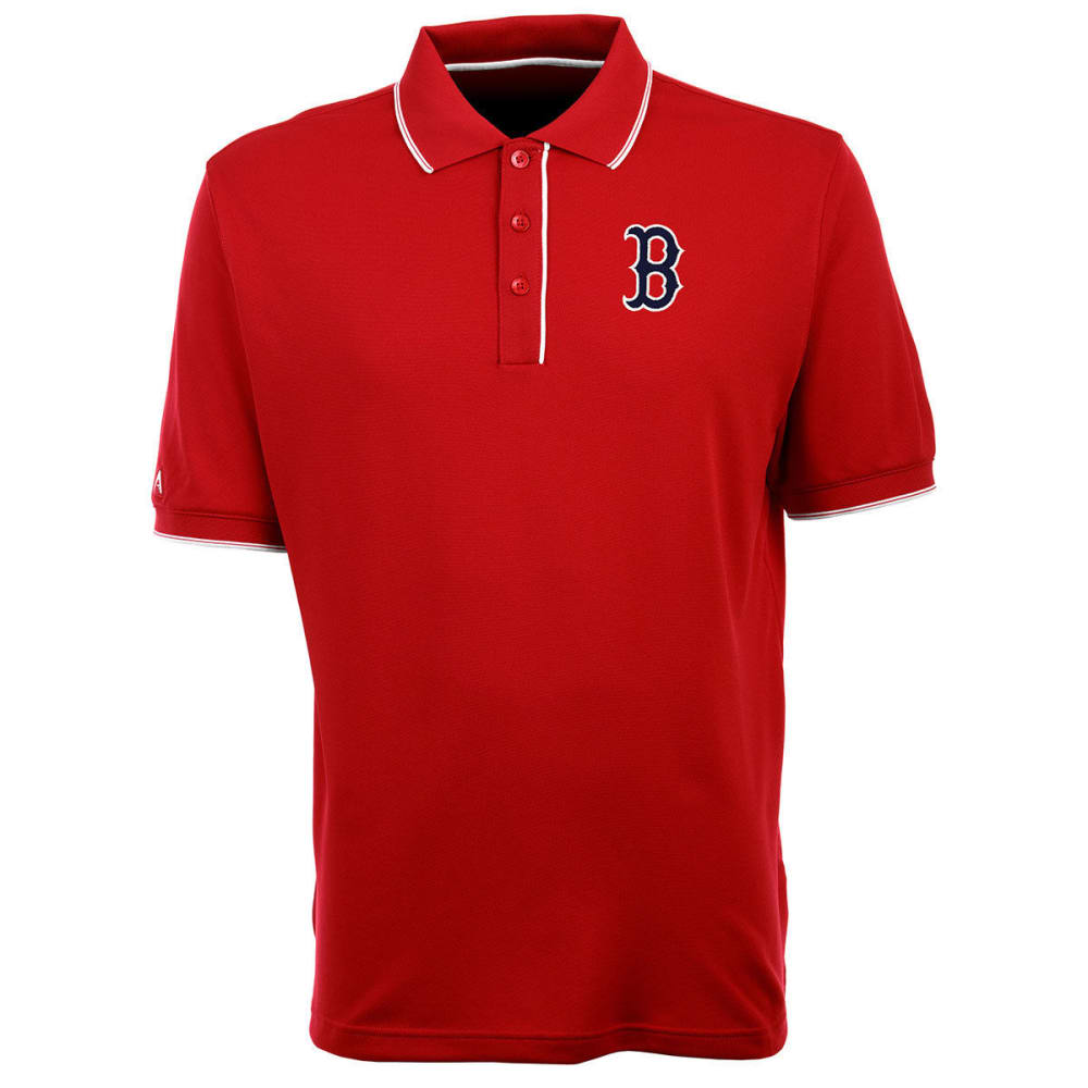 BOSTON RED SOX Men's Elite Polo B Logo Short-Sleeve Shirt - RED