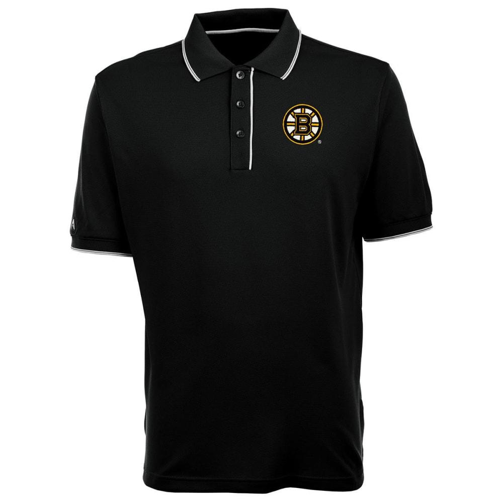 BOSTON BRUINS Men's Elite Polo Logo Short-Sleeve Shirt - BLACK