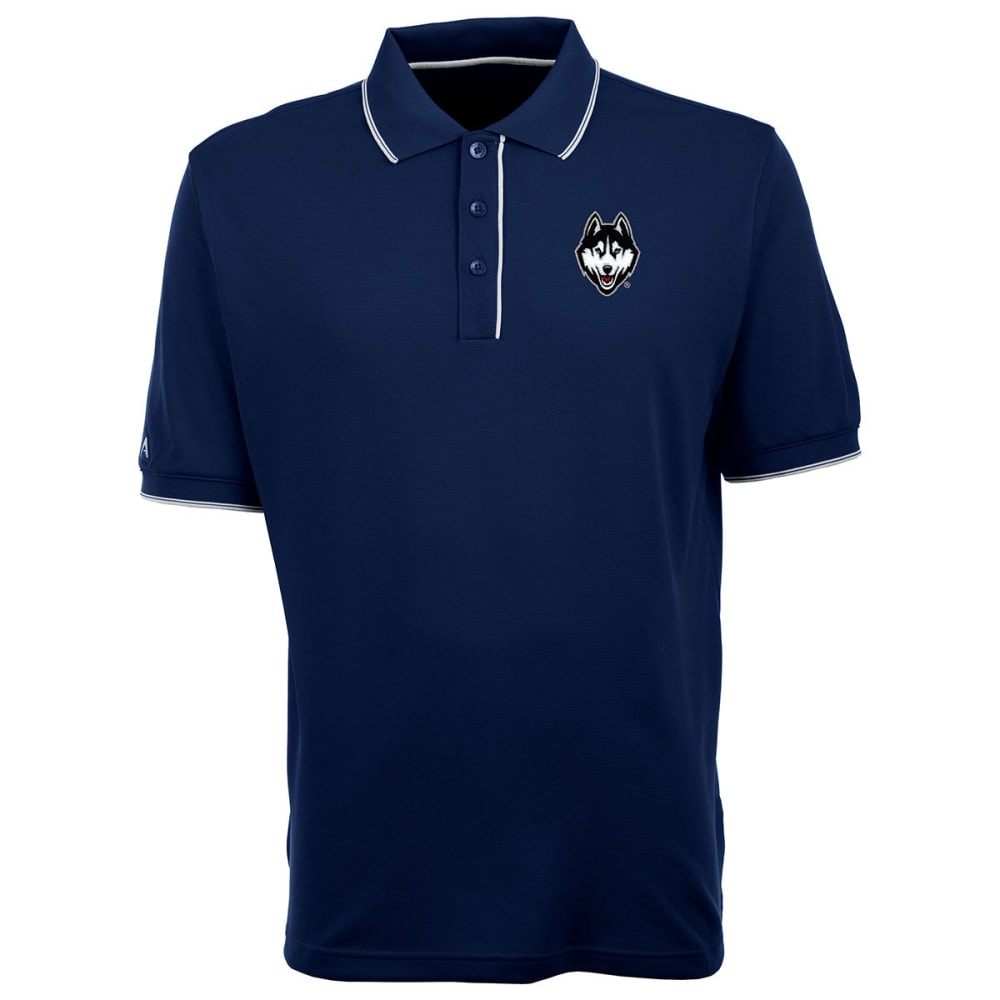 UCONN Men's Elite Polo Dog Logo Short-Sleeve Shirt - NAVY