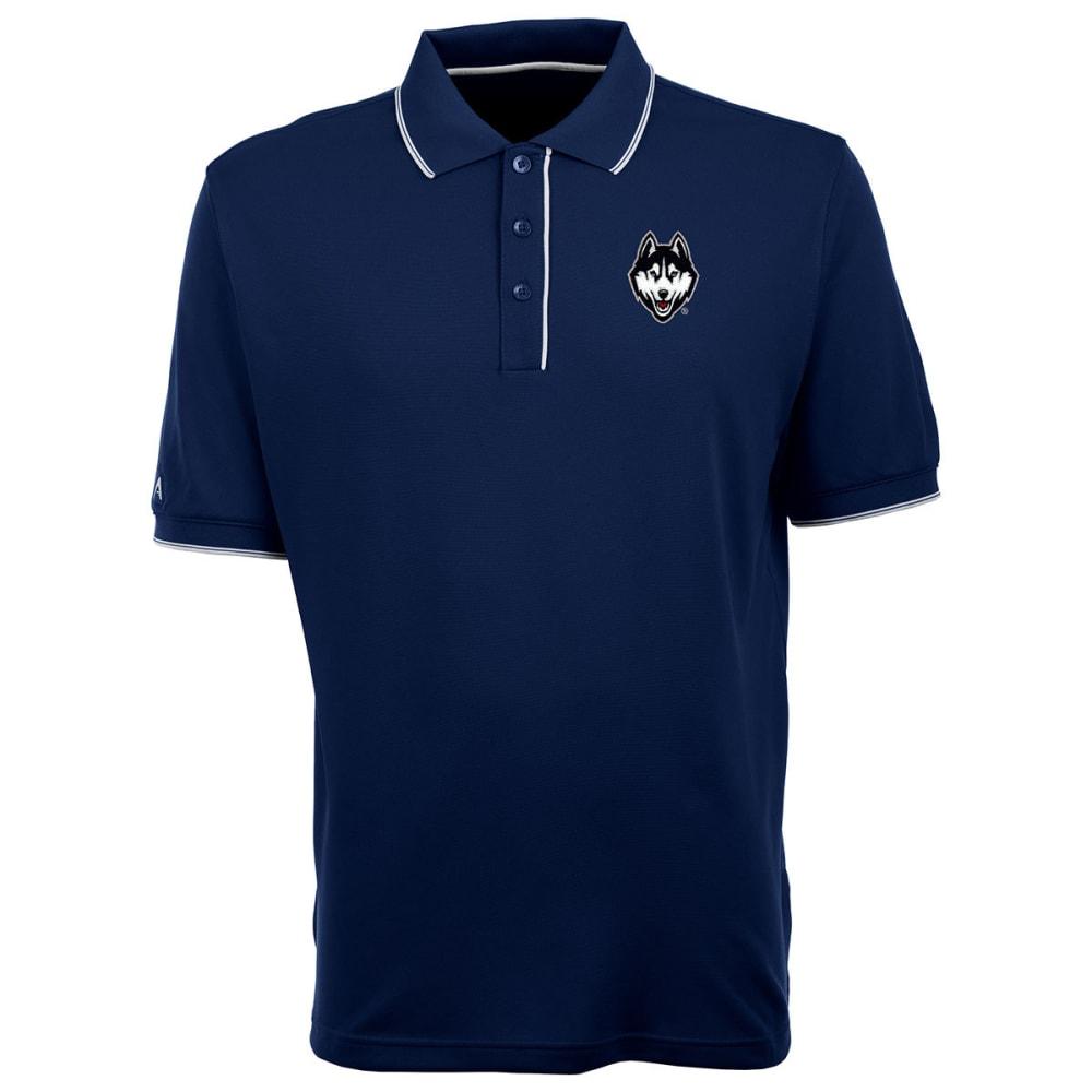UCONN Men's Elite Polo Dog Logo Short-Sleeve Shirt - NAVY