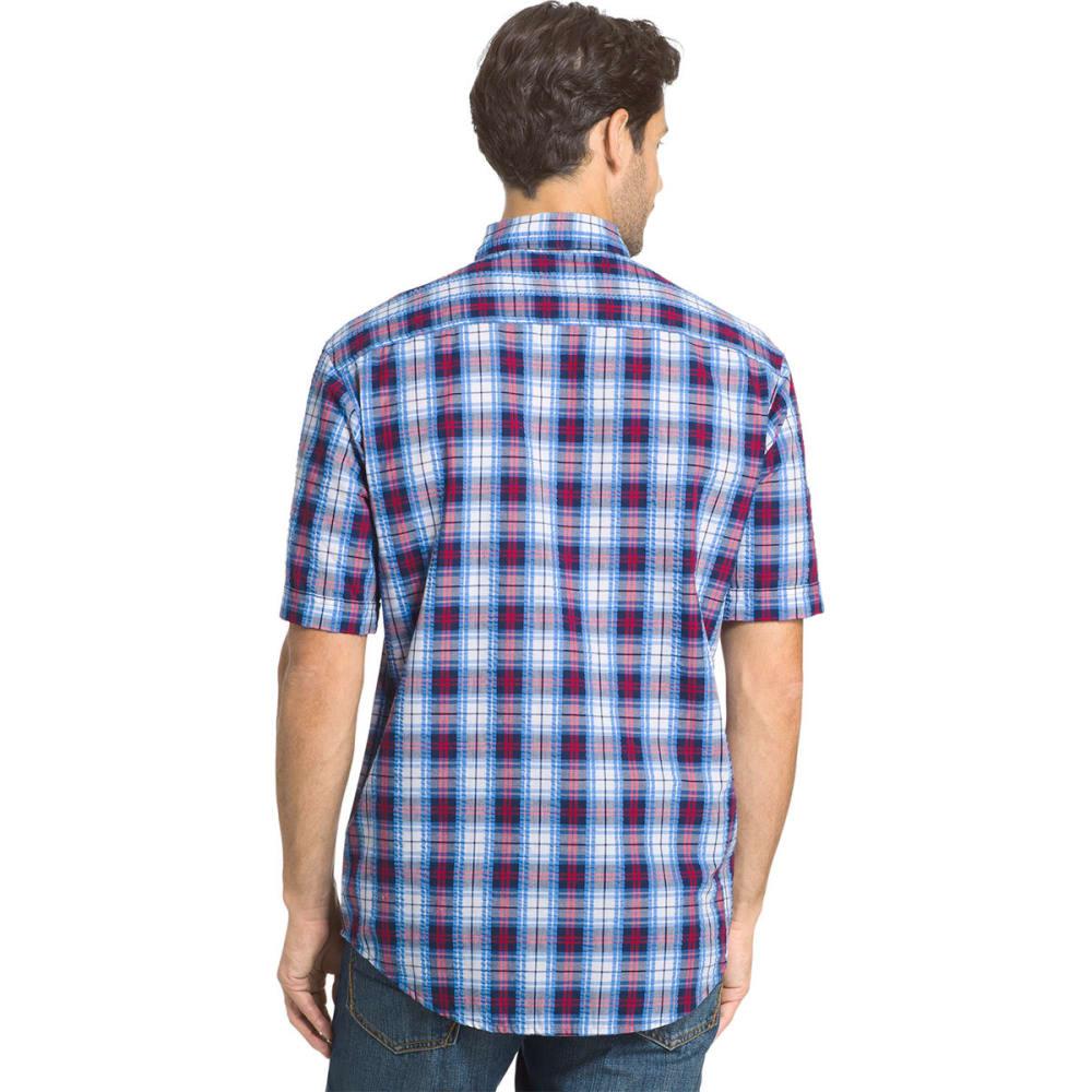 ARROW Men's Pucker Short Sleeve Woven Shirt - PEACOAT-410
