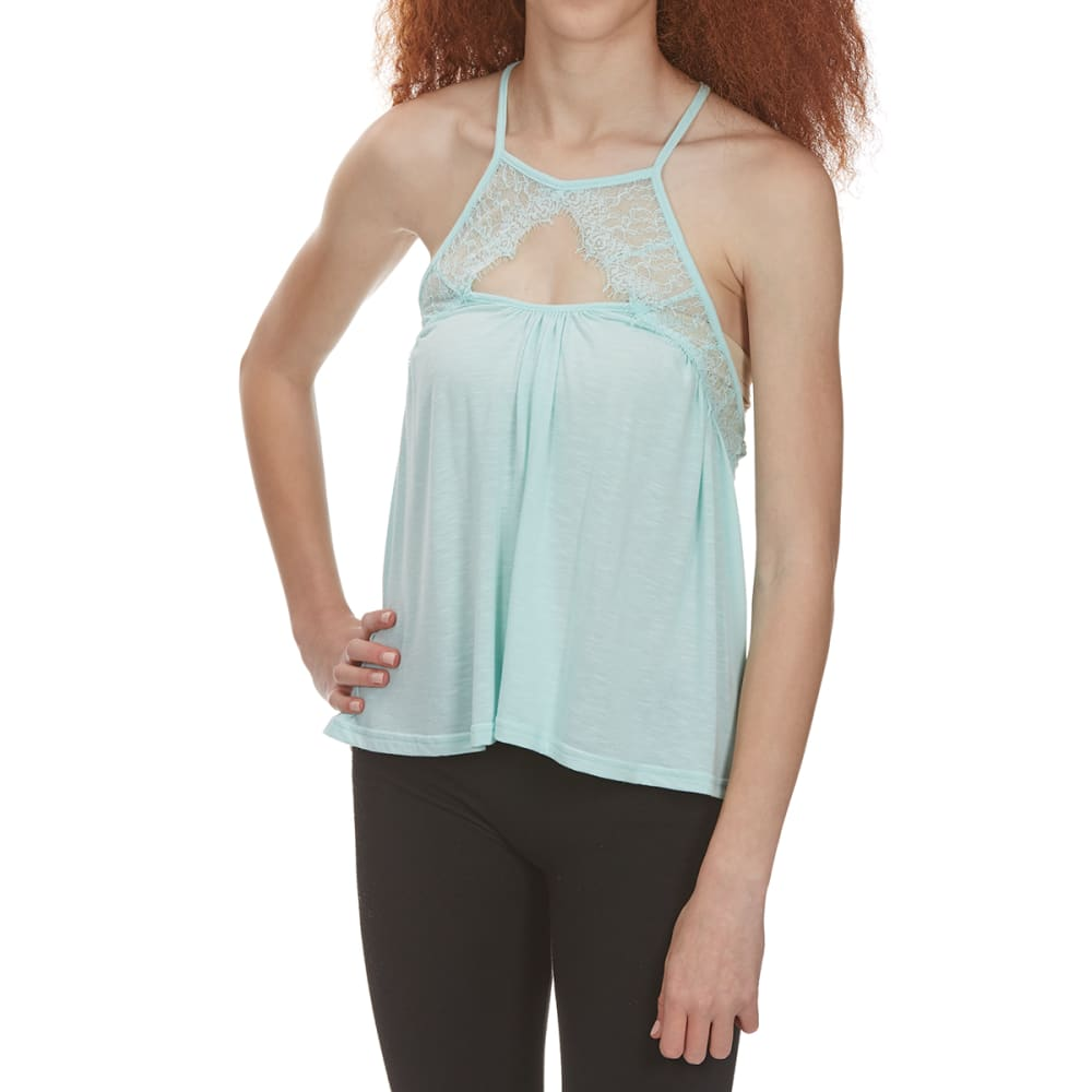 POOF Juniors' Lace Front Tank M