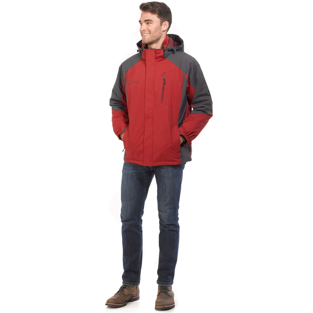 FREE COUNTRY Men's Granite Quilt-Lined Jacket - DRAGON BLOOD/CHR