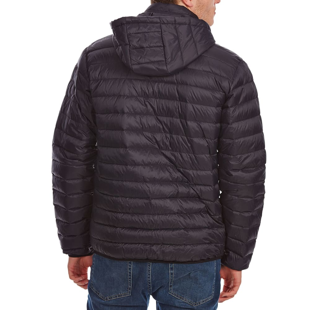 FREE COUNTRY Men's Down Hooded Jacket - BLACK