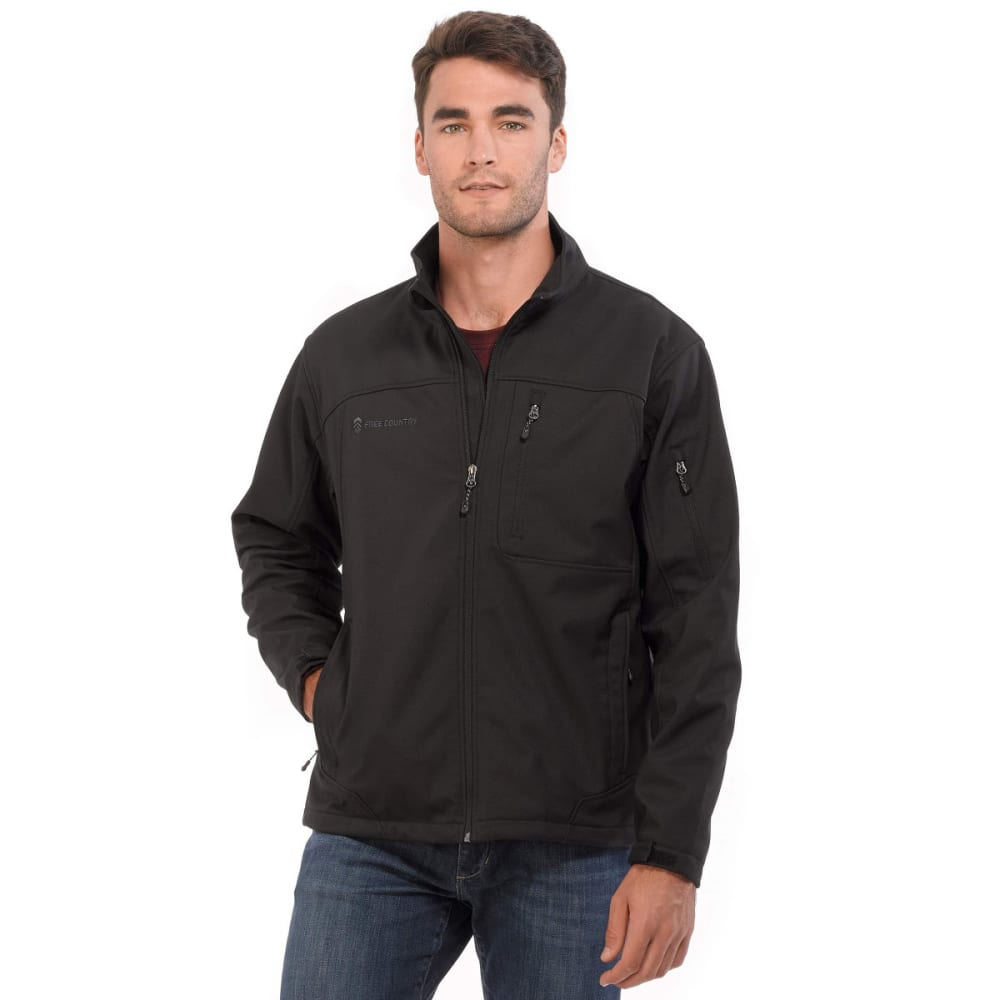 FREE COUNTRY Men's Base Camp Soft Shell Jacket - BLACK