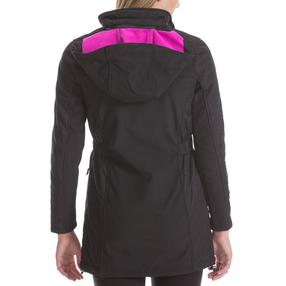 NEW BALANCE Women's Soft Shell Jacket with Dobby Overlay - BLK/POISNBERY-BK183