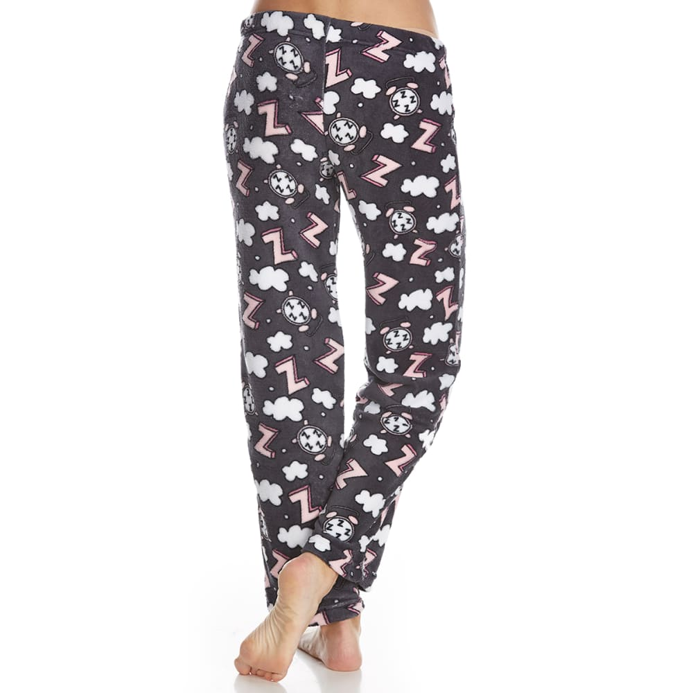 SLEEP & CO. Women's Alarm Clock Plush Sleep Pants - ALARM CLOCKS