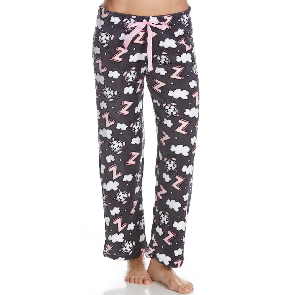 SLEEP & CO. Women's Alarm Clock Plush Sleep Pants S