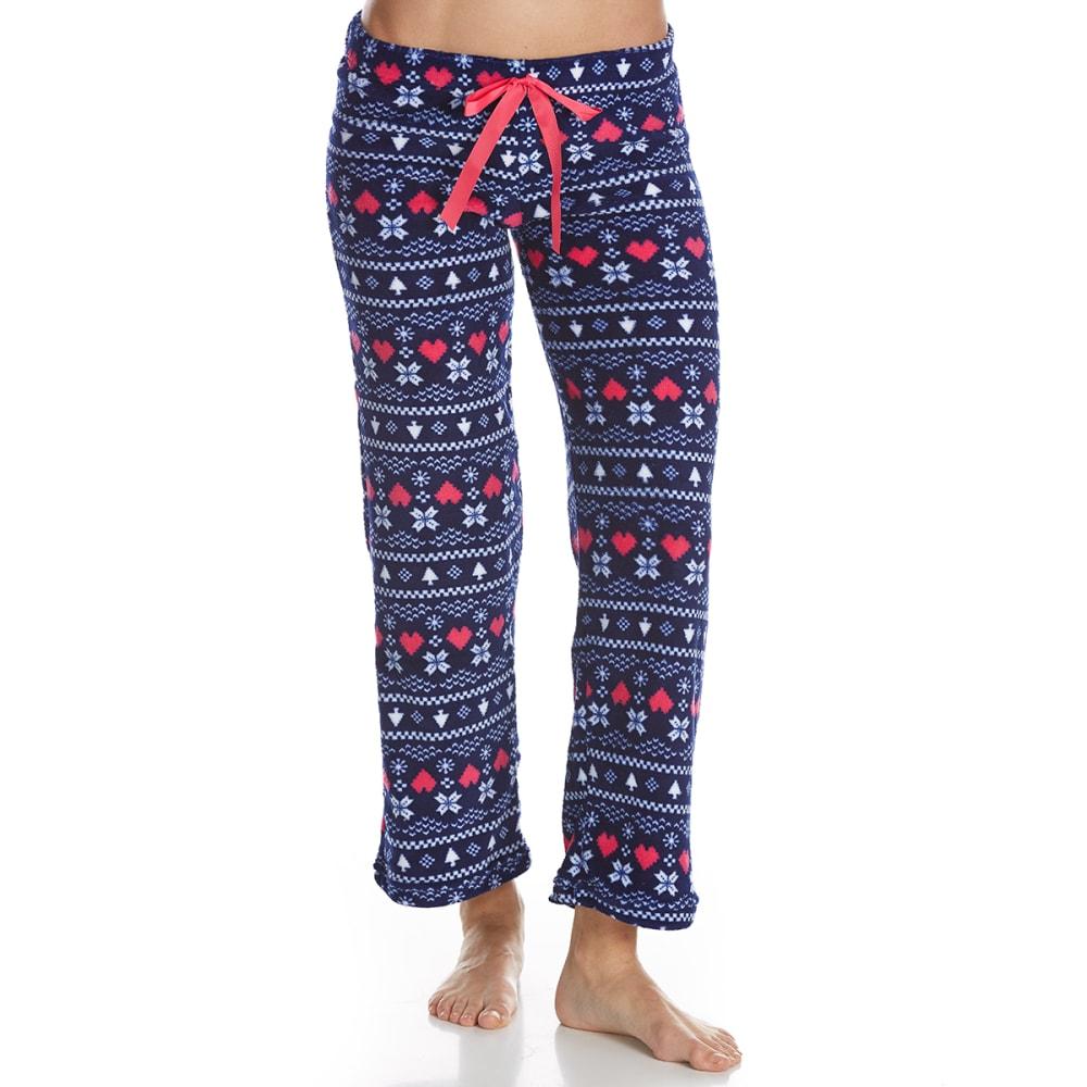 SLEEP & CO. Women's Fair Isle Plush Sleep Pants - NAVY FAIRISLE
