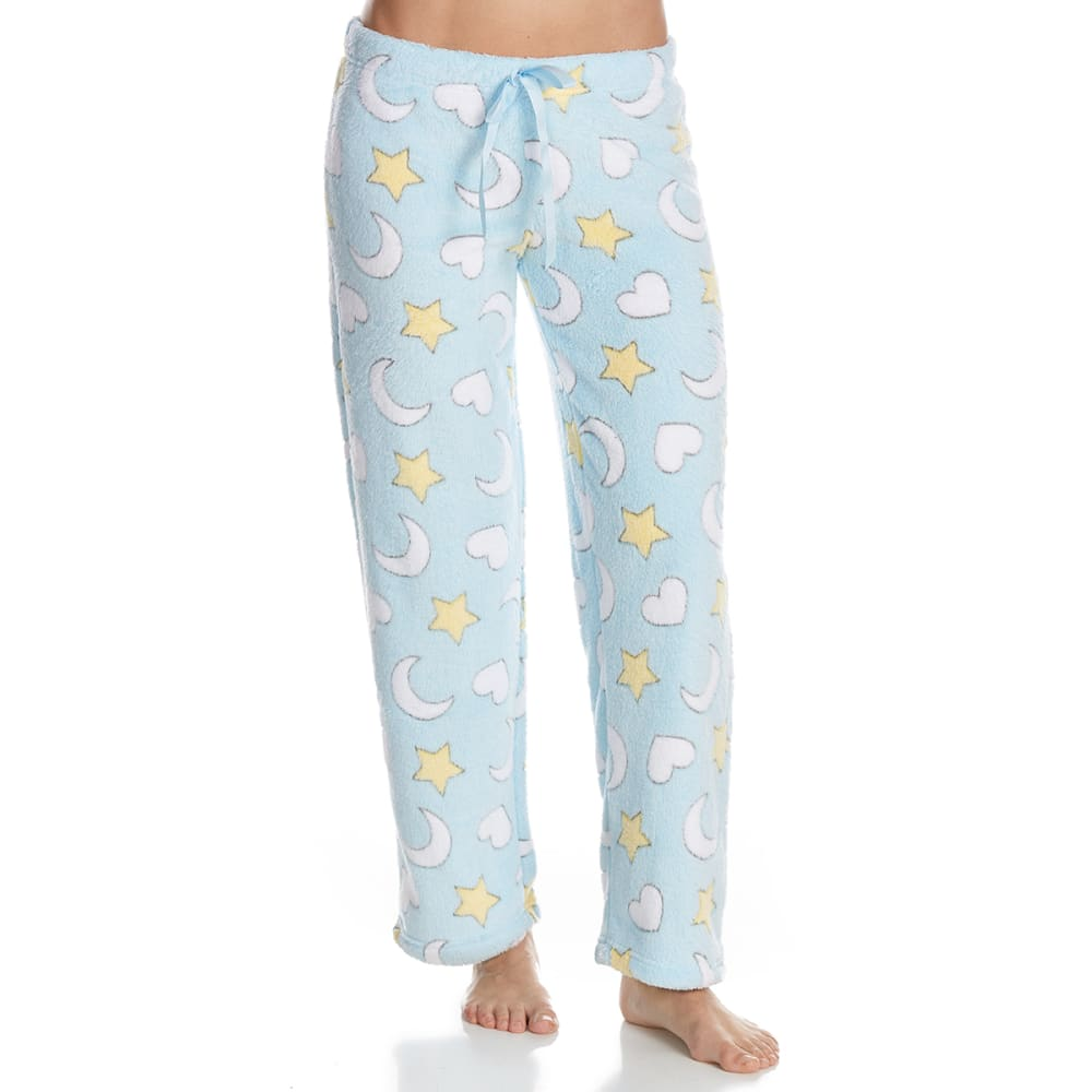 SLEEP & CO. Women's Moon Stars Plush Sleep Pants - MOON & STARS