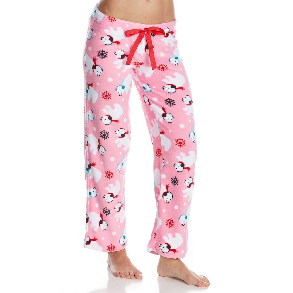SLEEP & CO. Women's Polar Bears Plush Sleep Pants - POLAR BEARS