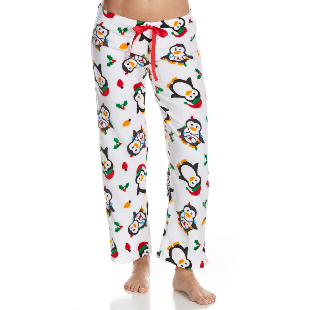 SLEEP & CO. Women's Penguins Plush Sleep Pants - PENGUINS