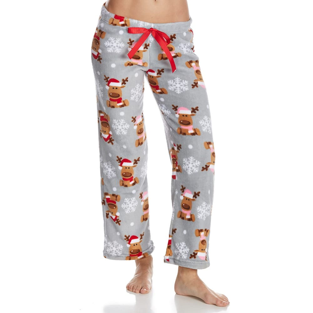 SLEEP & CO. Women's Reindeer Plush Sleep Pants - REINDEER