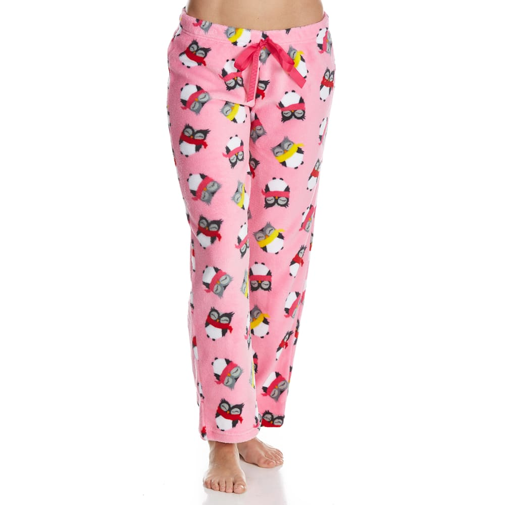 SLEEP & CO. Women's Owls in Scarves Plush Sleep Pants - OWLS IN SCARVES