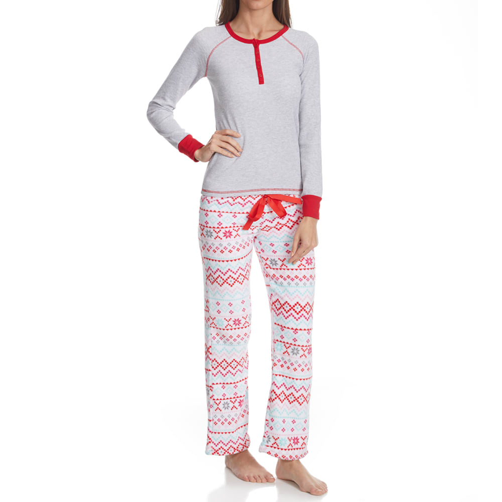 SLEEP & CO. Women's Fair Isle Thermal Plush Sleep Set - FAIRISLE