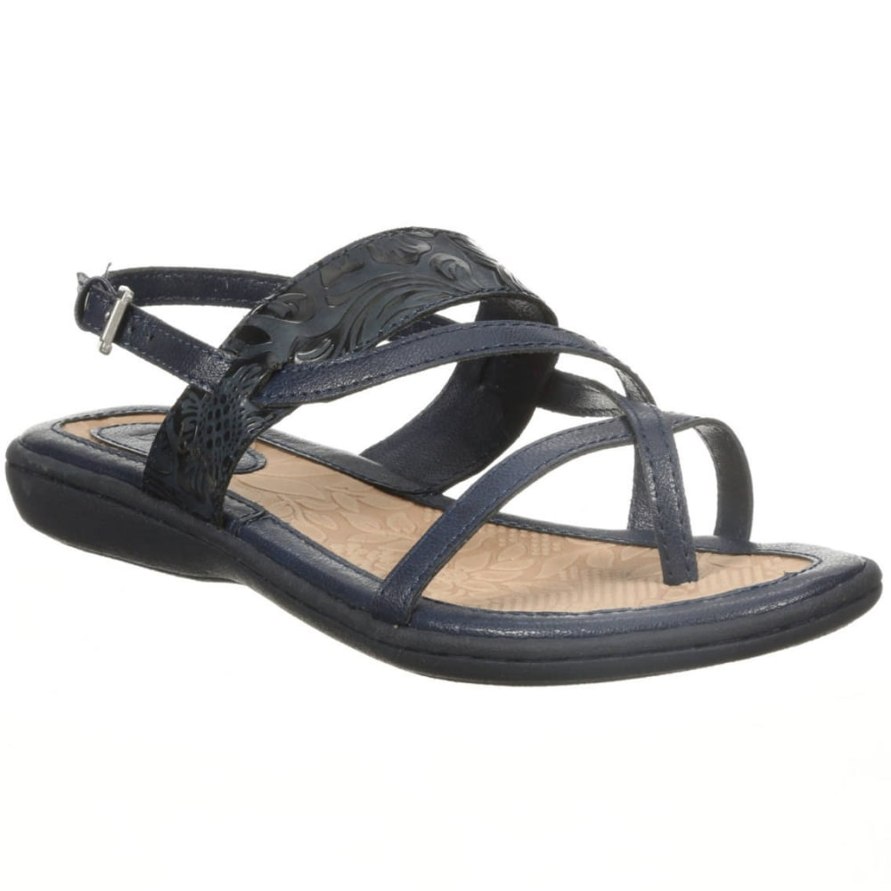 BOC Women's Sophina Tooled Low-Heel Sandals, Black - BLACK