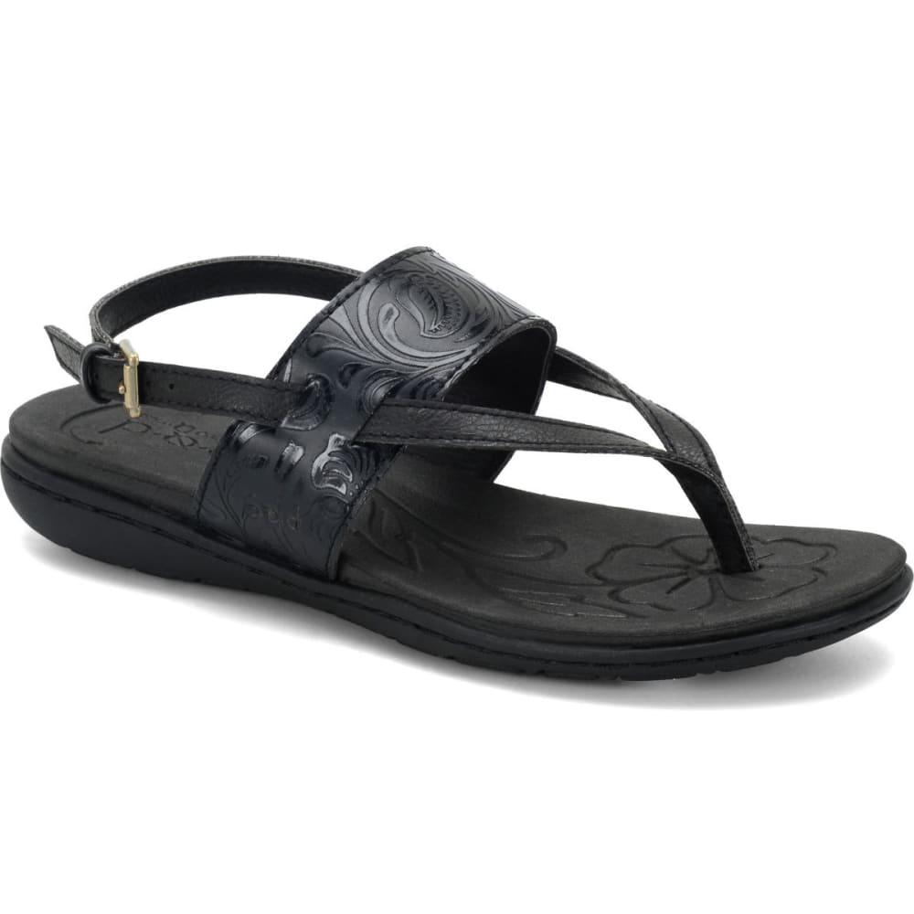 B.O.C. Women's Regan Tooled Sandals - BLACK