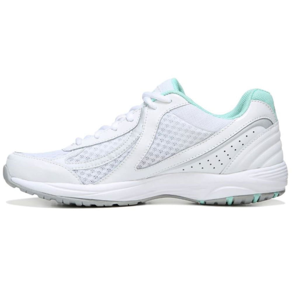 RYKA Women's Dash 3 Walking Shoes, White/Mint - WHITE - 1100 MED