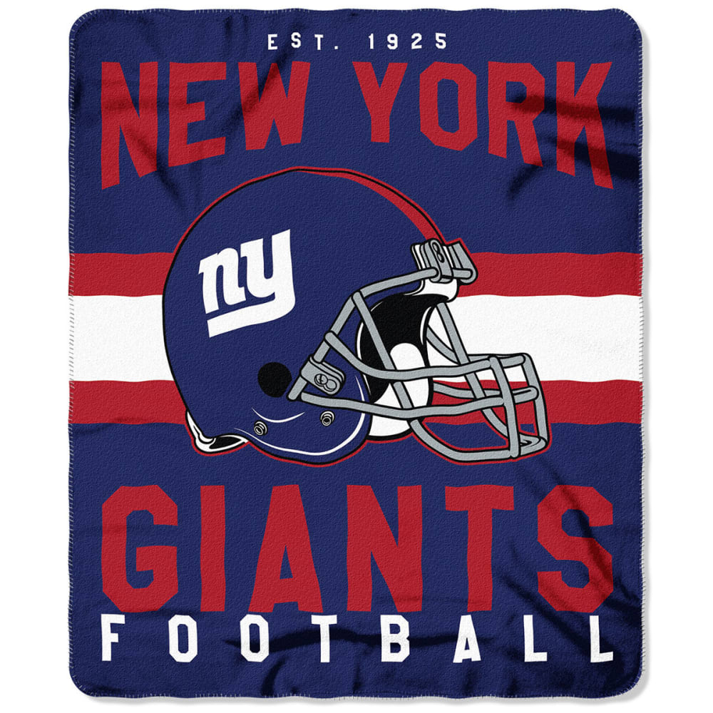 NEW YORK GIANTS Fleece Throw - ROYAL BLUE