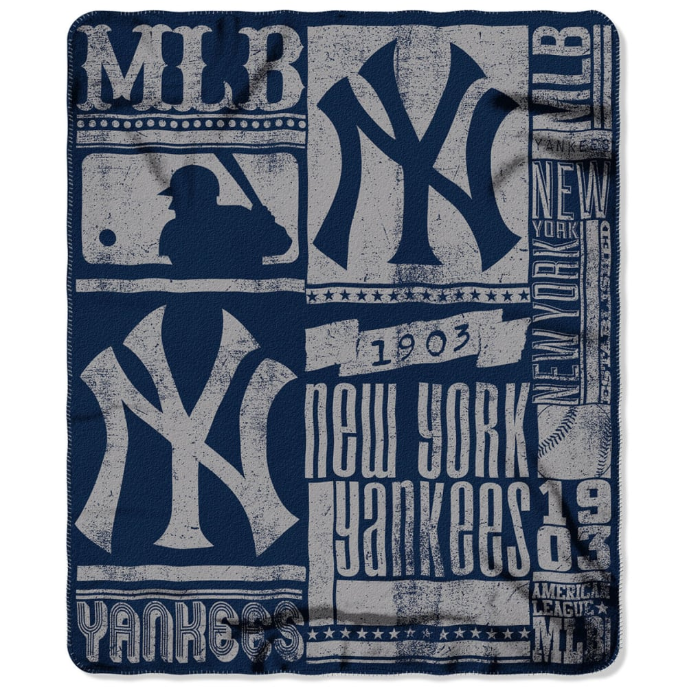 NEW YORK YANKEES Fleece Throw - NAVY