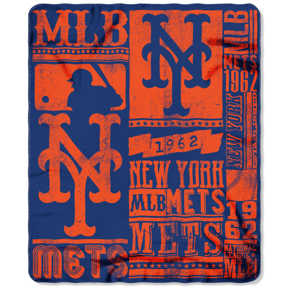 NEW YORK METS Fleece Throw - ROYAL BLUE