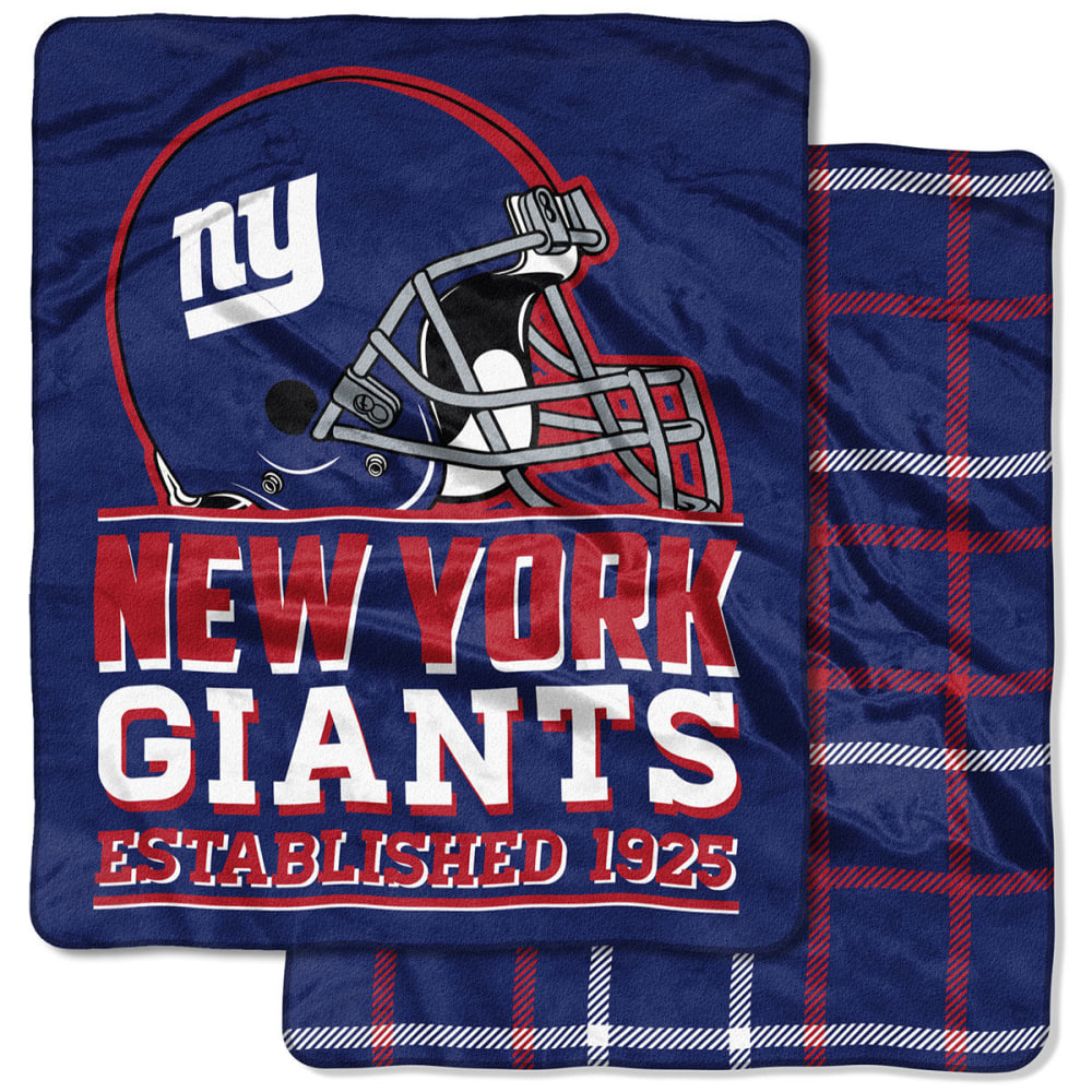 NEW YORK GIANTS Double-Sided Cloud Throw Blanket - ROYAL BLUE