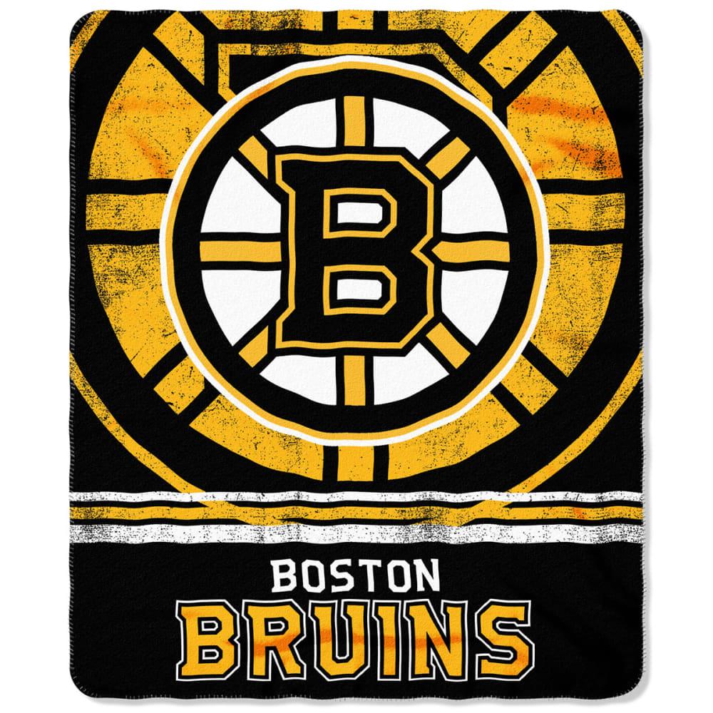 BOSTON BRUINS Fleece Throw Blanket - BLACK