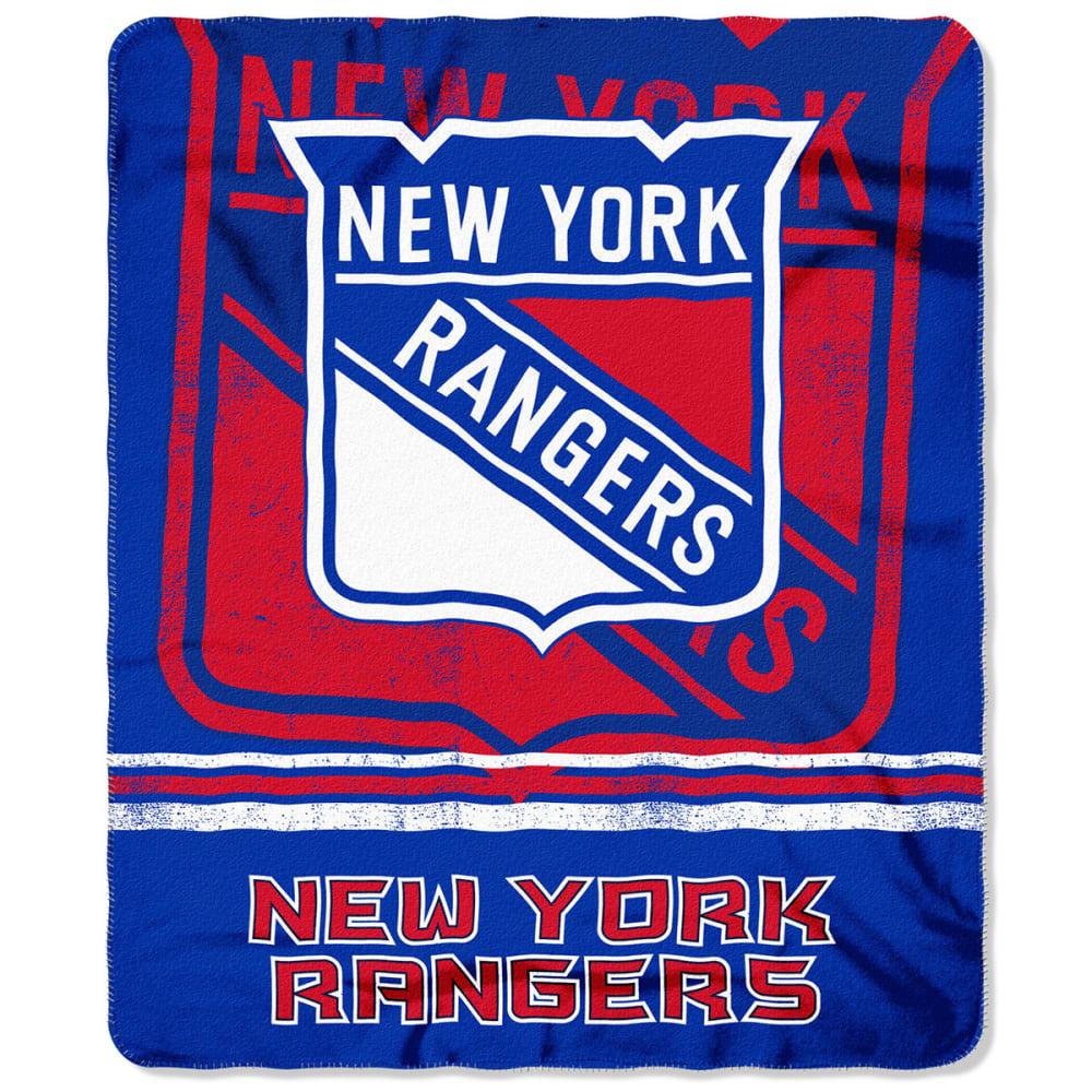 NEW YORK RANGERS Fleece Throw Blanket - ROYAL BLUE