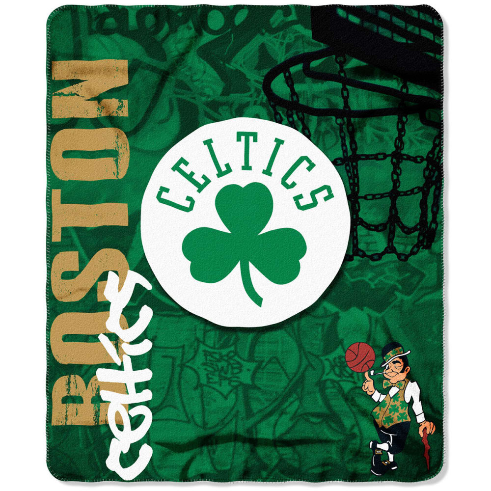 BOSTON CELTICS Fleece Throw Blanket - GREEN