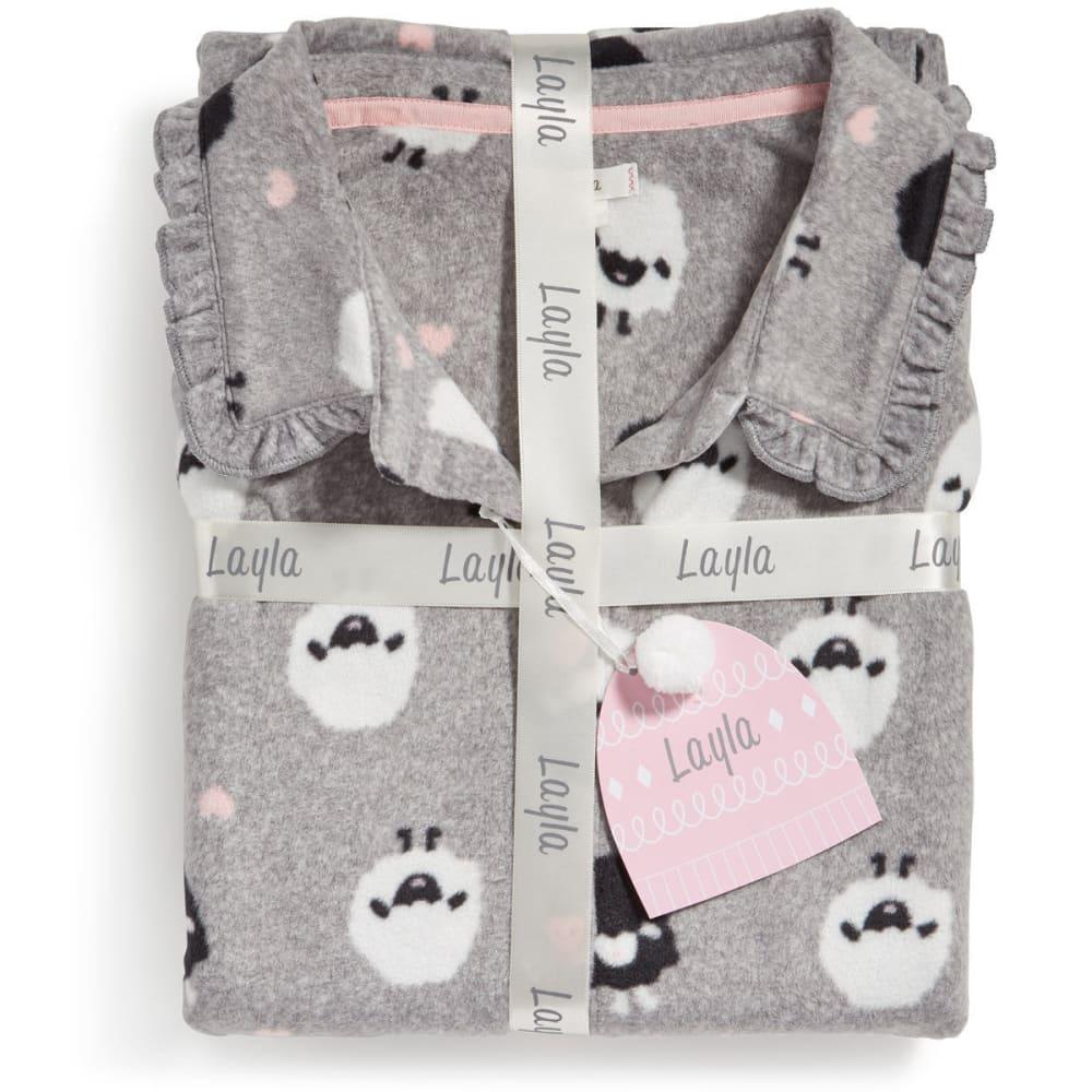 LAYLA Women's Notch Collar Pajama Set - SHEEP-025