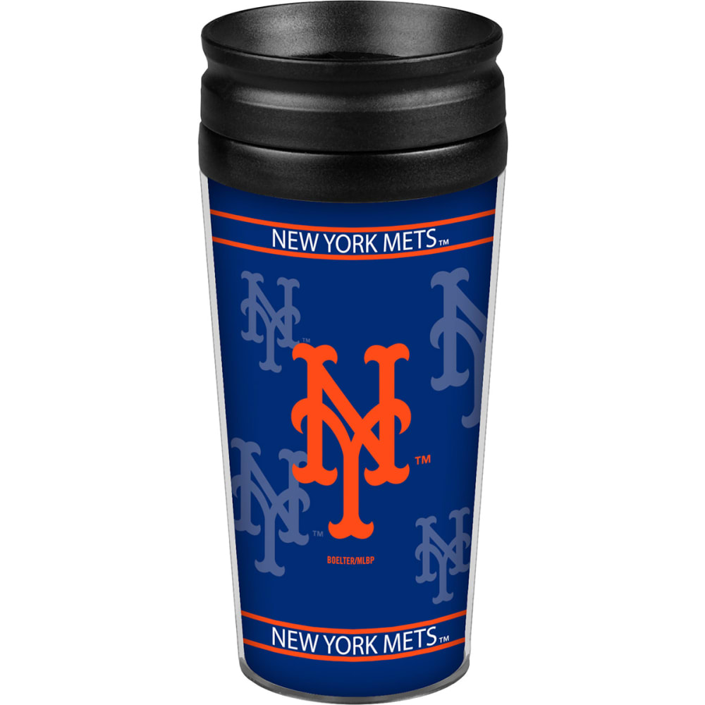 NEW YORK METS Full Wrap Travel Tumbler - ROYAL BLUE